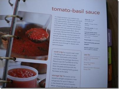 tomato basil sauce recipe