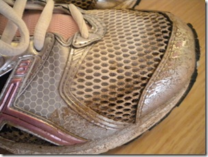 muddy shoe