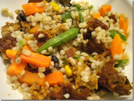 barley and veggies