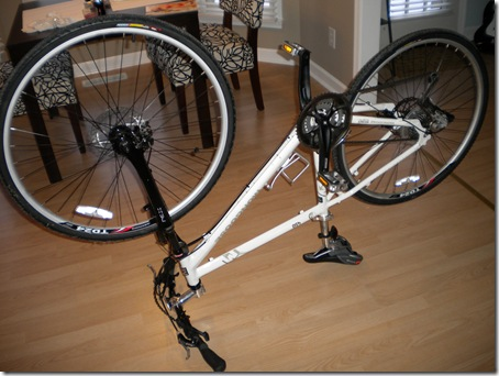 bike upside down