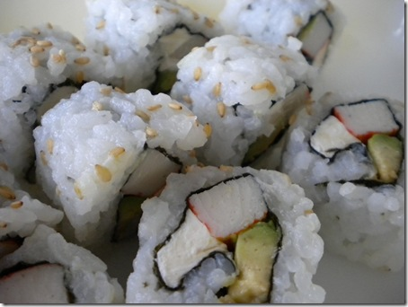 cream cheese sushi rolls