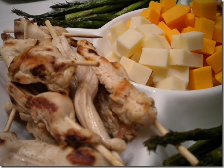 chicken and cheese tray