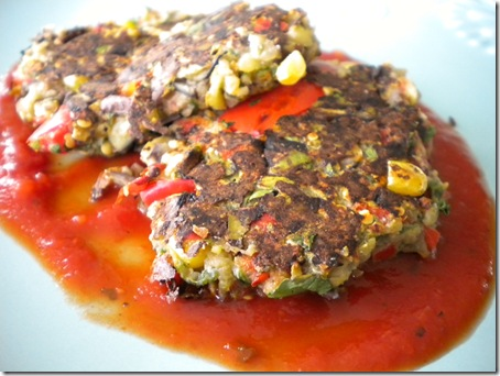 eggplant patties in sauce