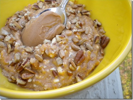 nut topped oats