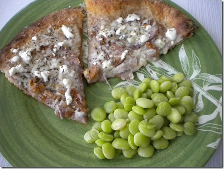 pizza & lima beans