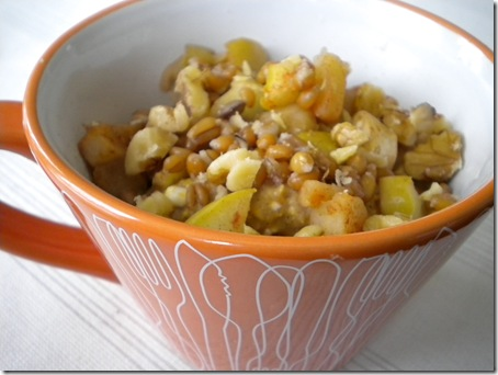 pumpkin apple oatmeal