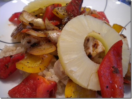 rice, peppers, & pineapple