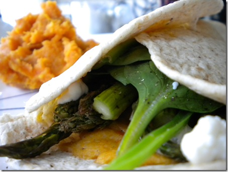 veggie and goat cheese wrap